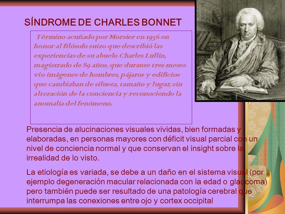 SÍNDROME DE CHARLES BONNET