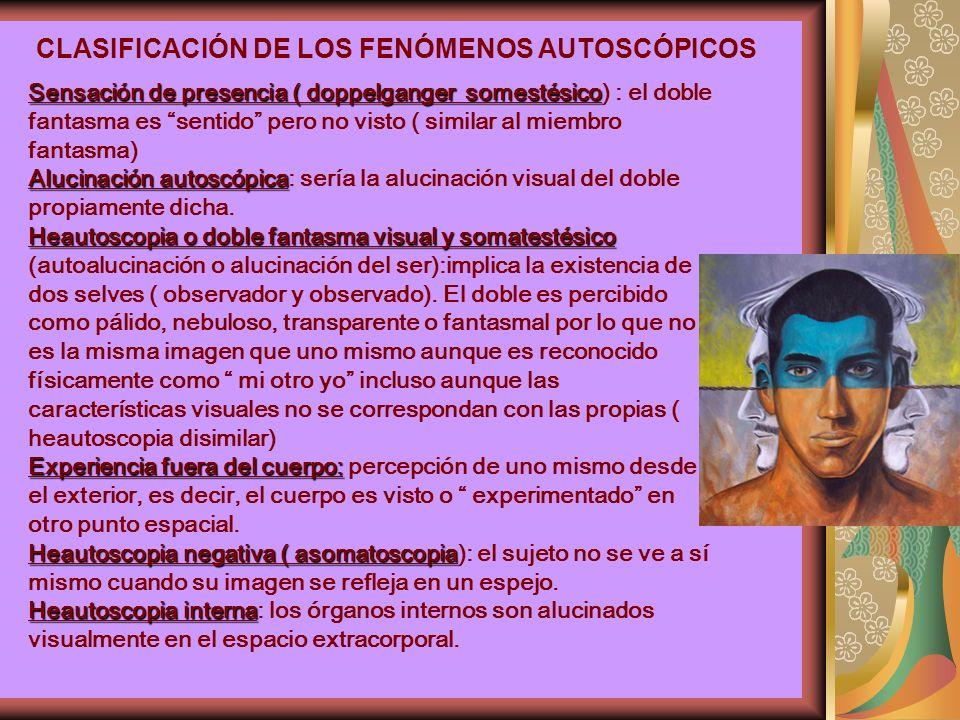 CLASIFICACIÓN DE LOS FENÓMENOS AUTOSCÓPICOS