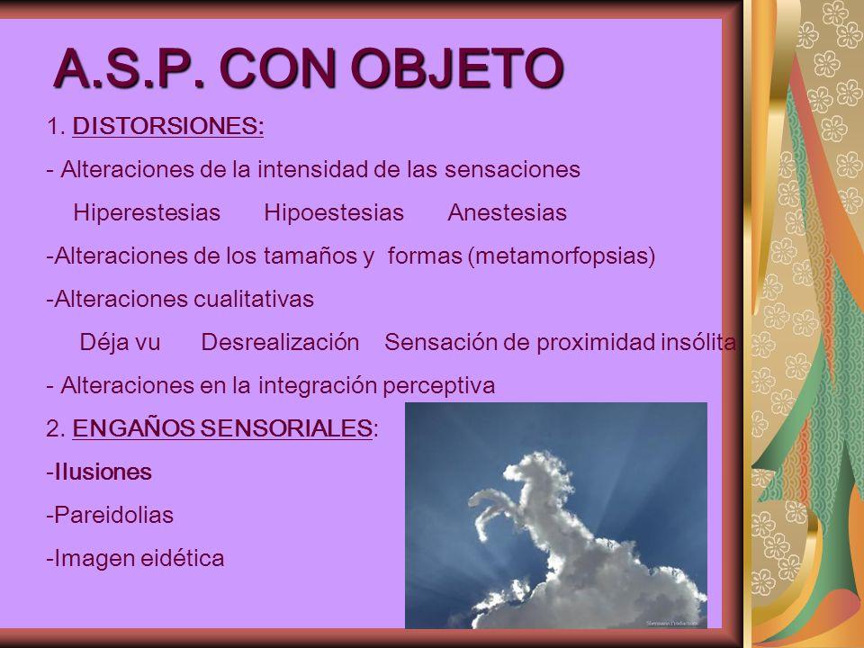 A.S.P. CON OBJETO 1. DISTORSIONES: