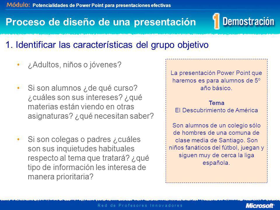 Proceso de diseño de una presentación