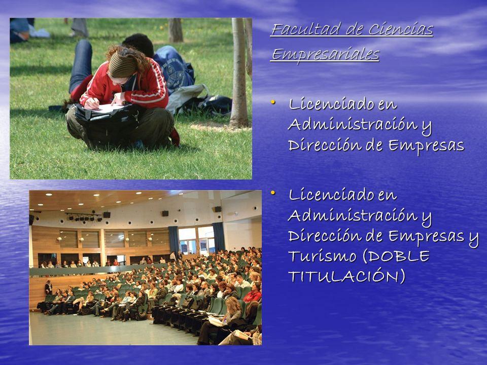 Facultad de Ciencias Empresariales. Licenciado en Administración y Dirección de Empresas.