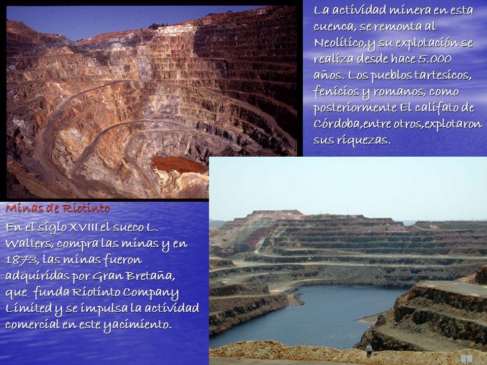 La actividad minera en esta cuenca, se remonta al Neolítico,y su explotación se realiza desde hace 5.000 años. Los pueblos tartesicos, fenicios y romanos, como posteriormente El califato de Córdoba,entre otros,explotaron sus riquezas.