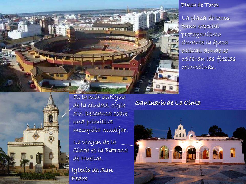 La virgen de la Cinta es la Patrona de Huelva. Santuario de La Cinta