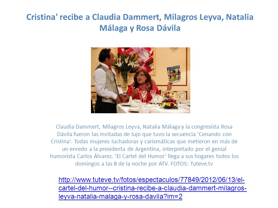 Cristina recibe a Claudia Dammert, Milagros Leyva, Natalia Málaga y Rosa Dávila