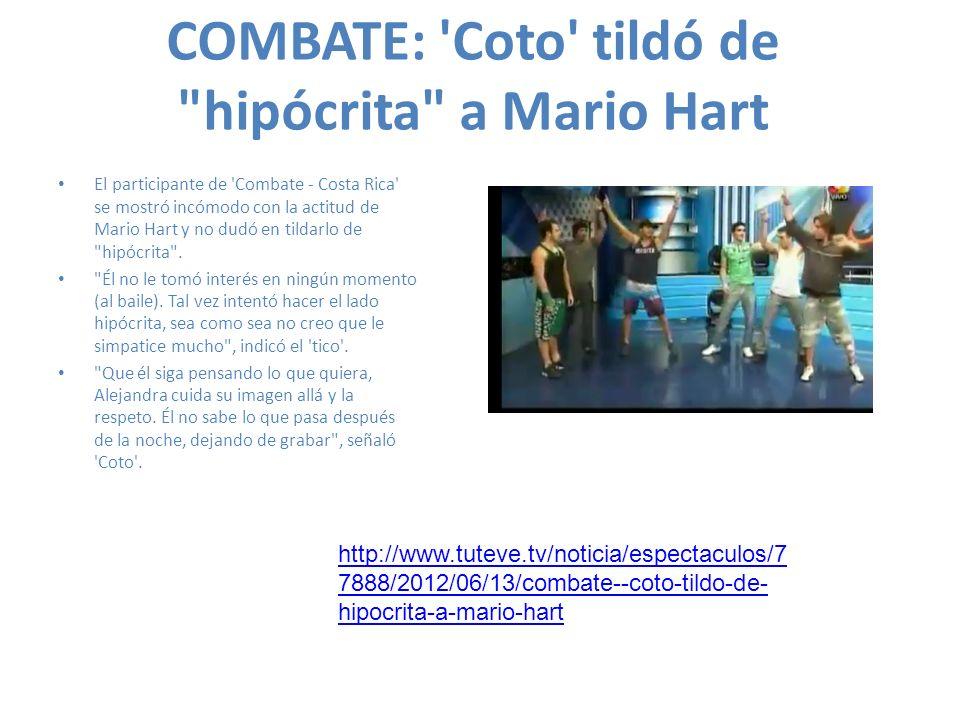 COMBATE: Coto tildó de hipócrita a Mario Hart