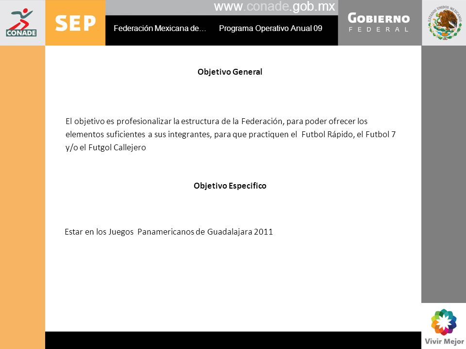 www.conade.gob.mx Objetivo General