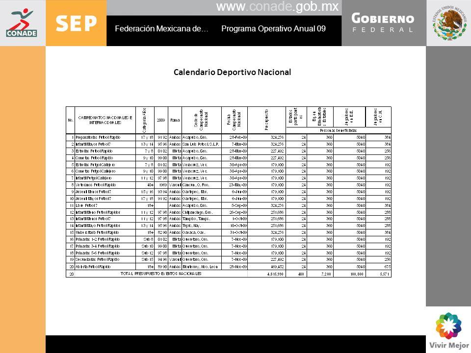 Calendario Deportivo Nacional