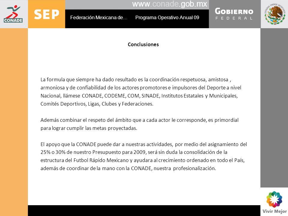 www.conade.gob.mx Conclusiones
