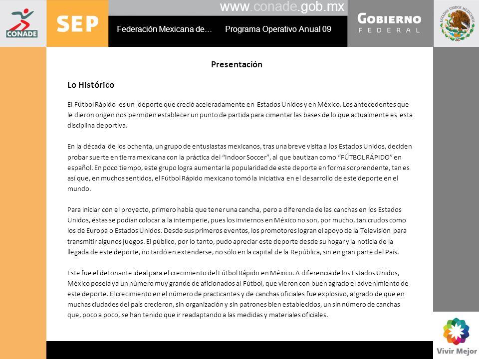 www.conade.gob.mx Presentación Lo Histórico