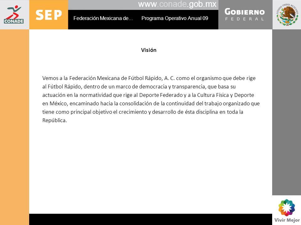 www.conade.gob.mx Visión