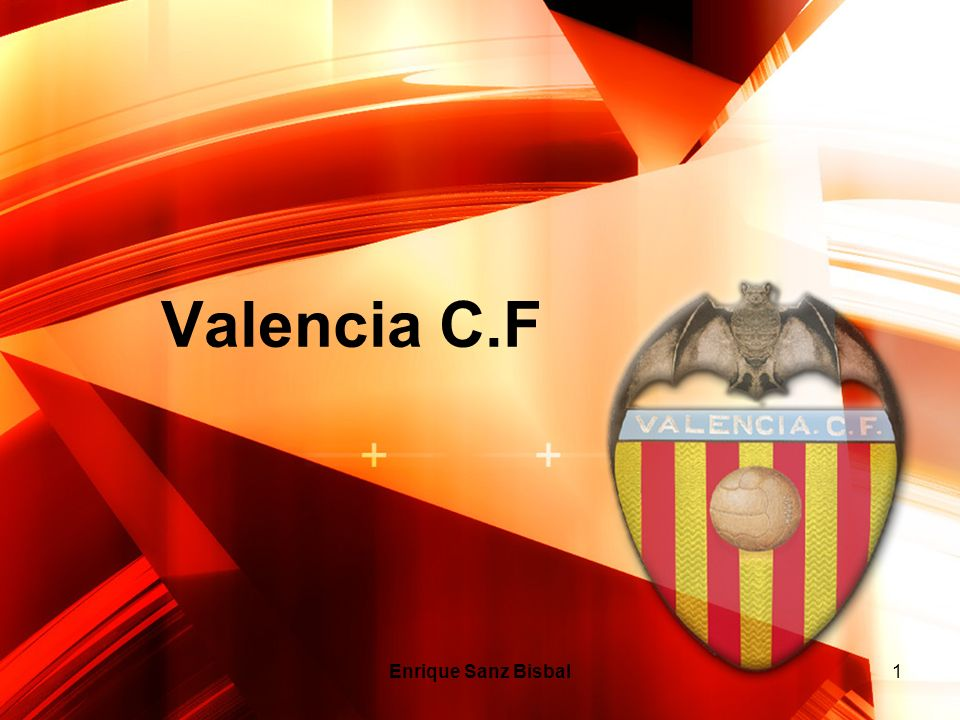 Valencia C.F Enrique Sanz Bisbal