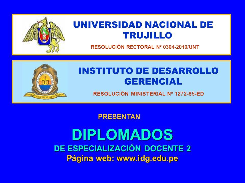 DIPLOMADOS DE ESPECIALIZACIÓN DOCENTE 2
