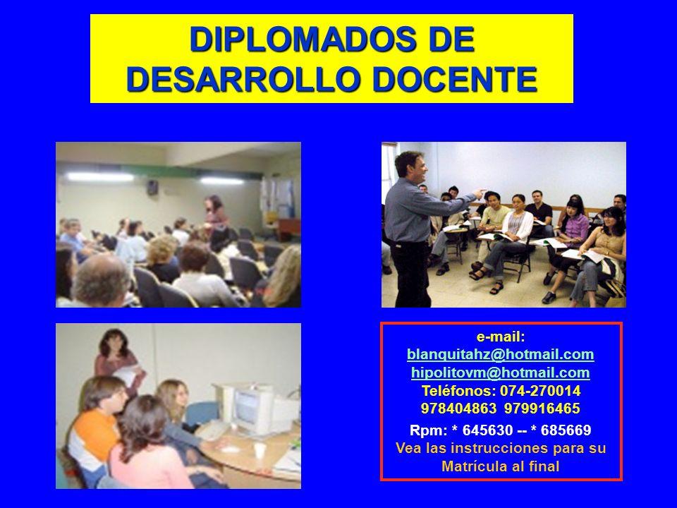 DIPLOMADOS DE DESARROLLO DOCENTE