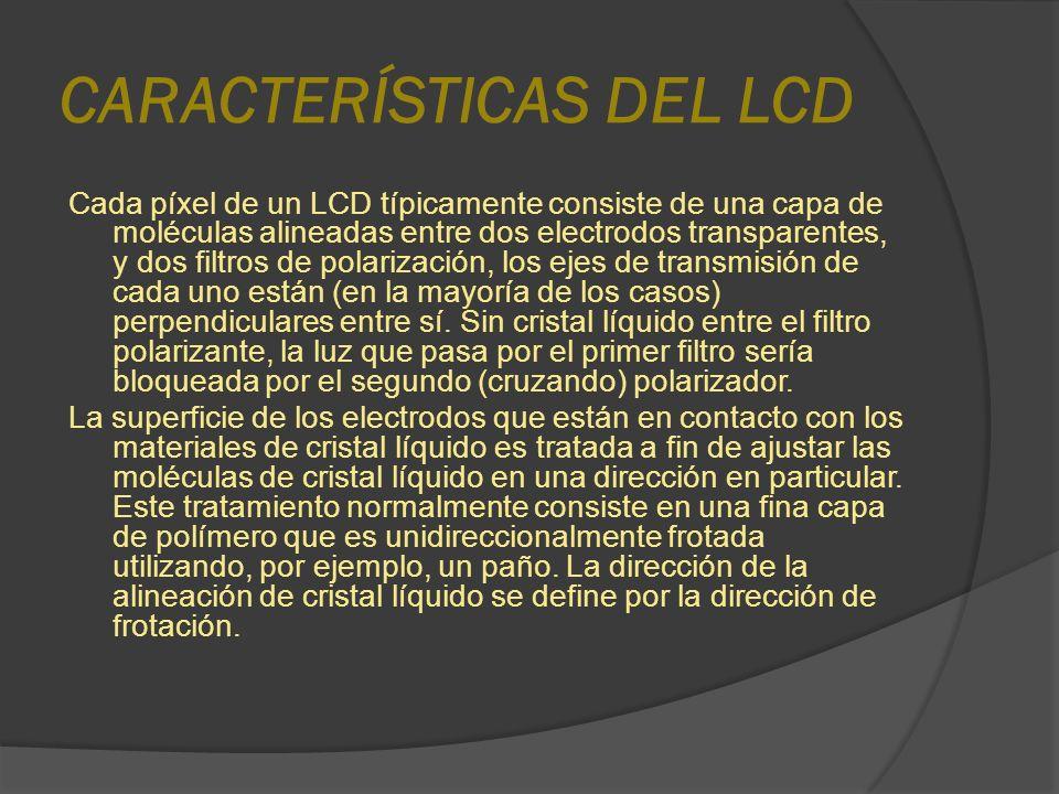 CARACTERÍSTICAS DEL LCD