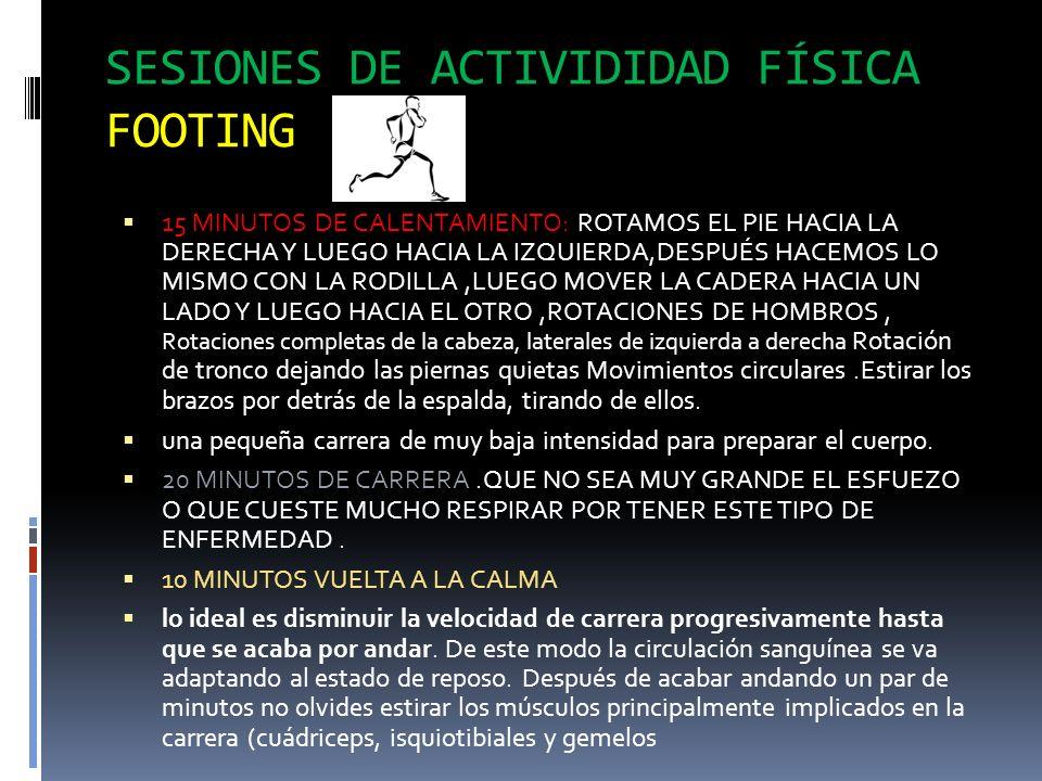 SESIONES DE ACTIVIDIDAD FÍSICA FOOTING