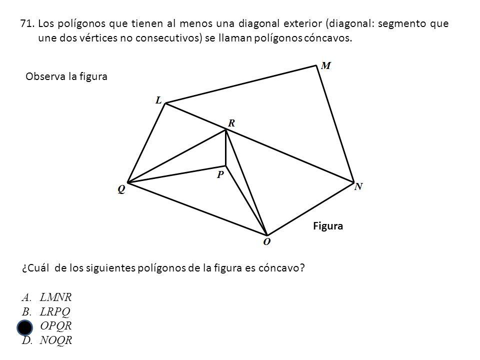 Los polígonos que tienen al menos una diagonal exterior (diagonal: segmento que une dos vértices no consecutivos) se llaman polígonos cóncavos.
