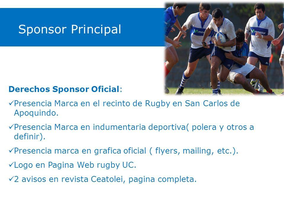 Sponsor Principal Derechos Sponsor Oficial: