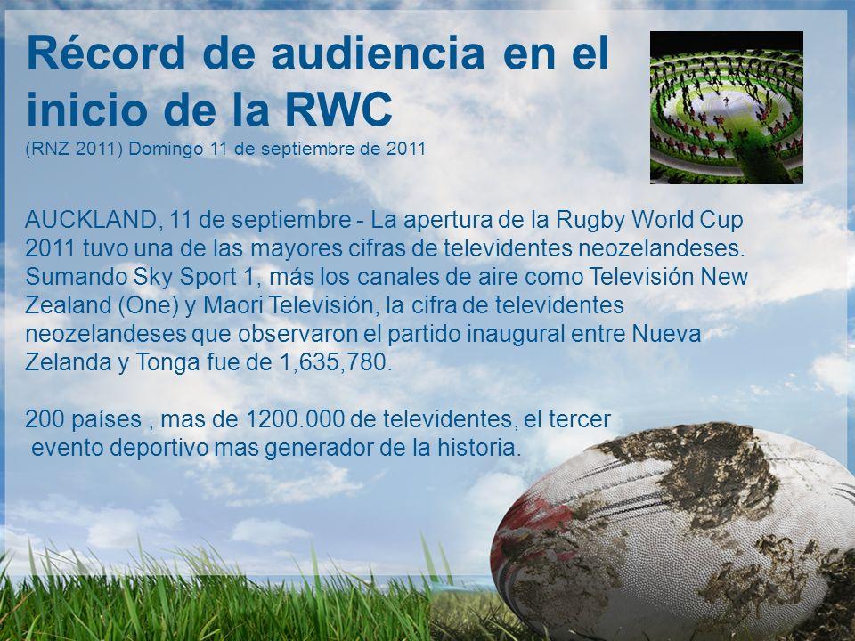 Récord de audiencia en el inicio de la RWC