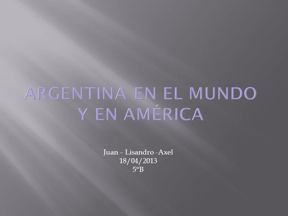 Argentina en el mundo y en América