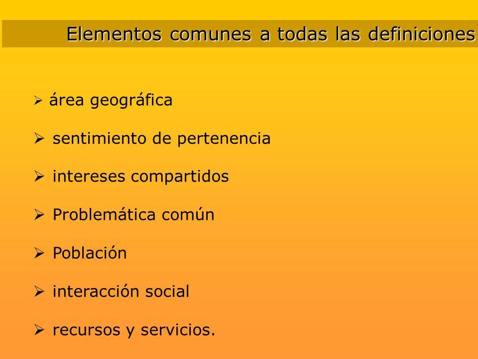 Elementos comunes a todas las definiciones