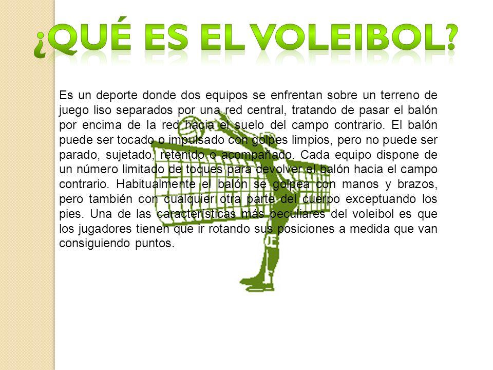 ¿Qué es el voleibol