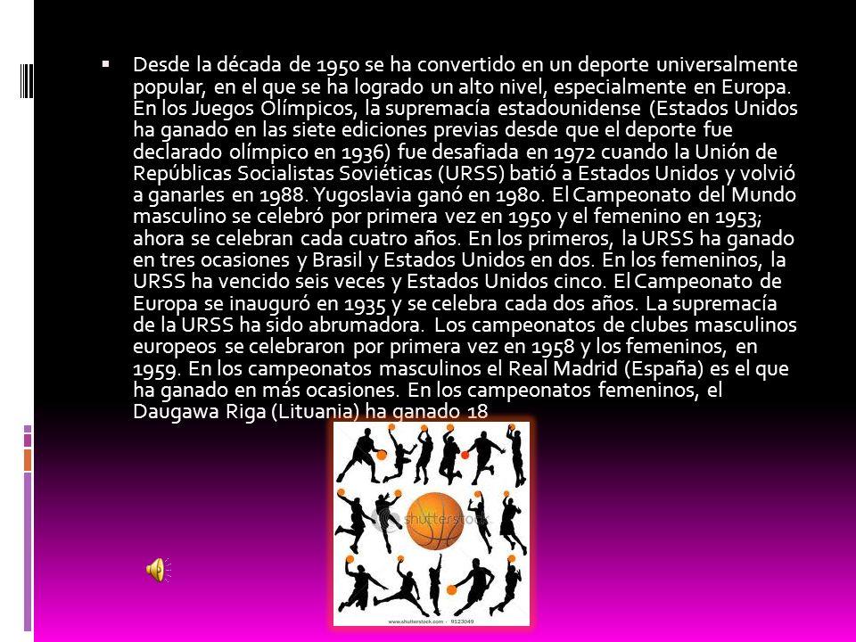 Desde la década de 1950 se ha convertido en un deporte universalmente popular, en el que se ha logrado un alto nivel, especialmente en Europa.