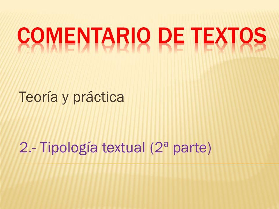 Comentario de textos Teoría y práctica