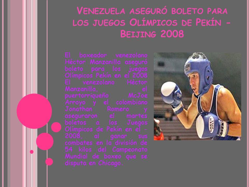 Venezuela aseguró boleto para los juegos Olímpicos de Pekín - Beijing 2008