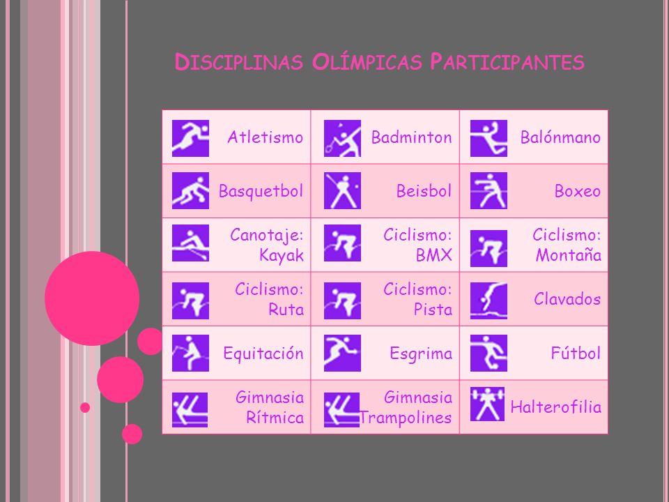 Disciplinas Olímpicas Participantes