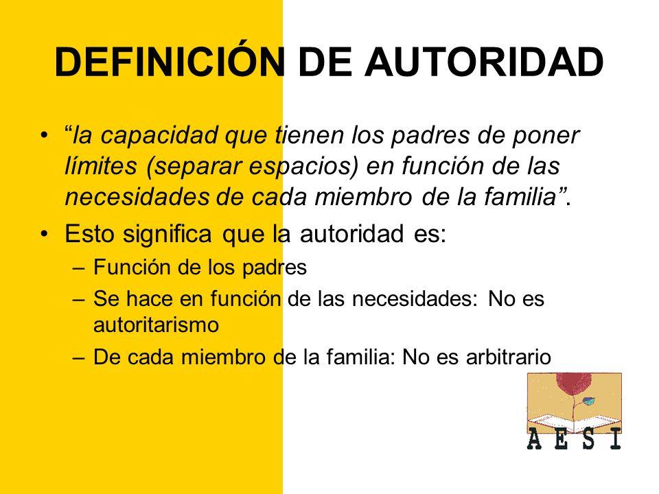DEFINICIÓN DE AUTORIDAD
