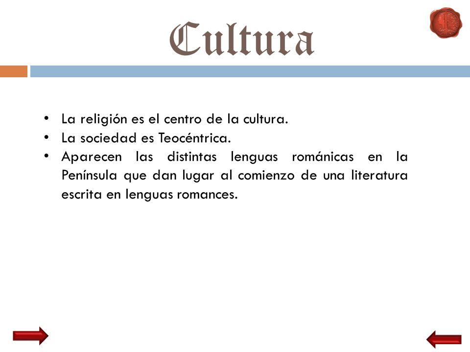 Cultura La religión es el centro de la cultura.