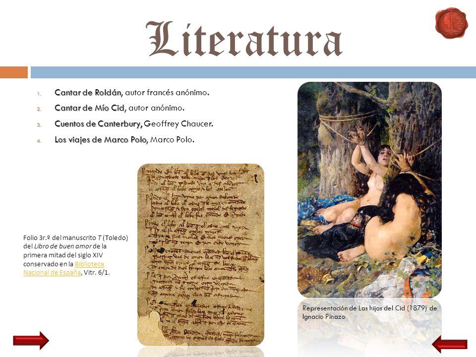 Literatura Cantar de Roldán, autor francés anónimo.