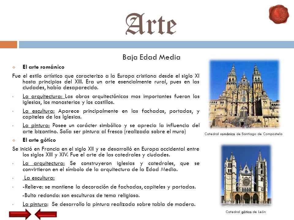 Arte Baja Edad Media El arte románico