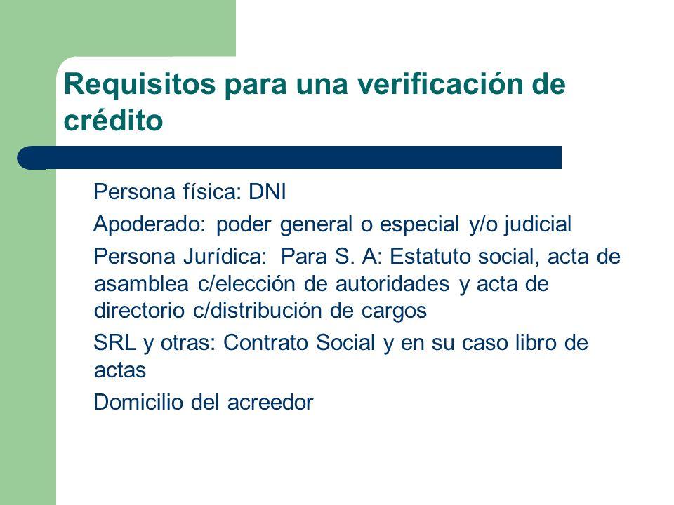 Requisitos para una verificación de crédito