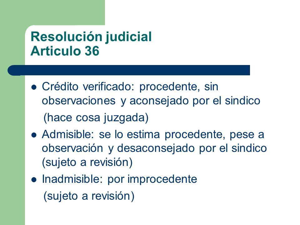 Resolución judicial Articulo 36