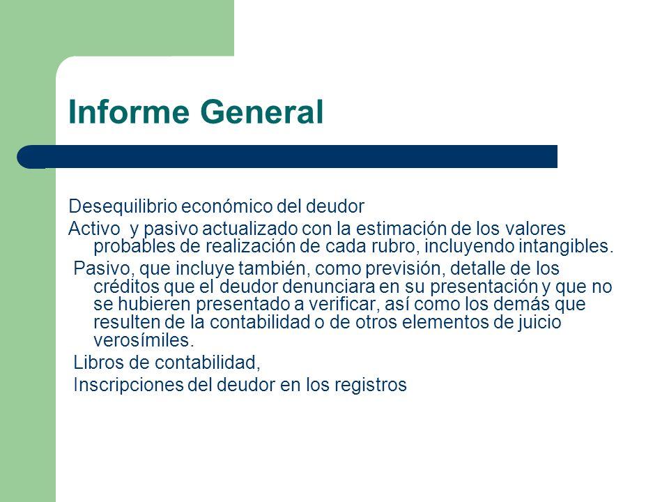 Informe General Desequilibrio económico del deudor