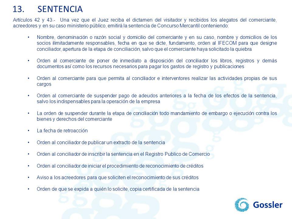 13. SENTENCIA