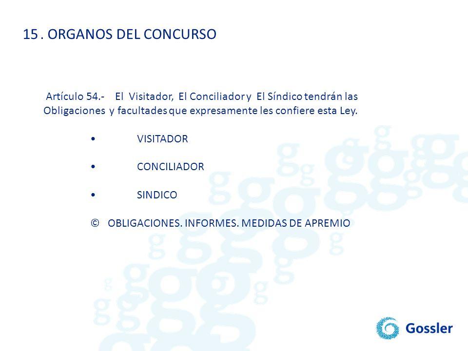 . ORGANOS DEL CONCURSO