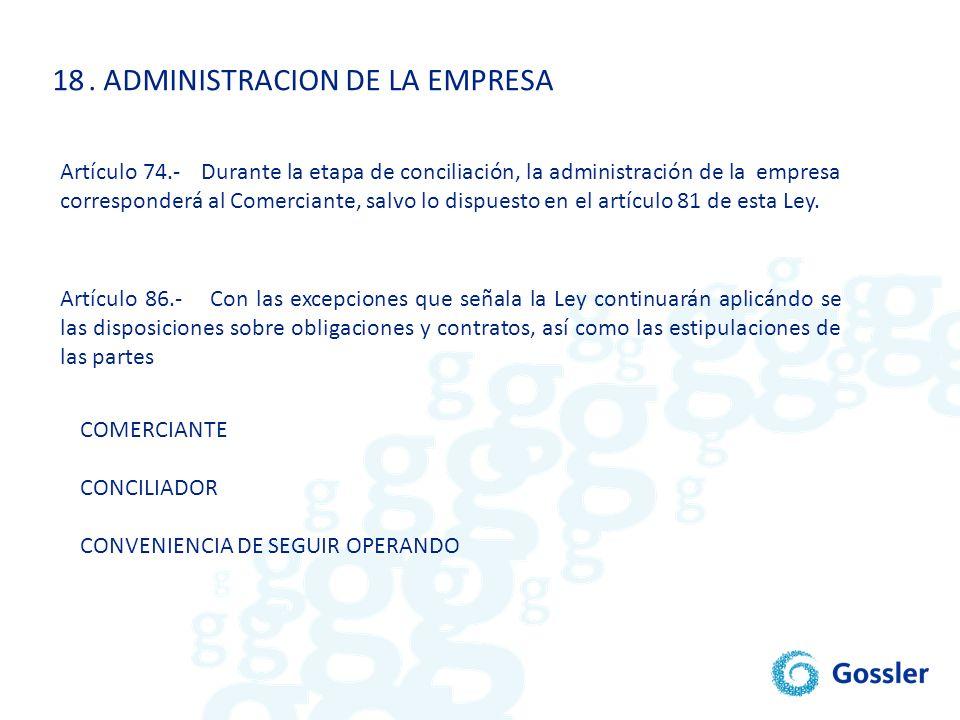 . ADMINISTRACION DE LA EMPRESA