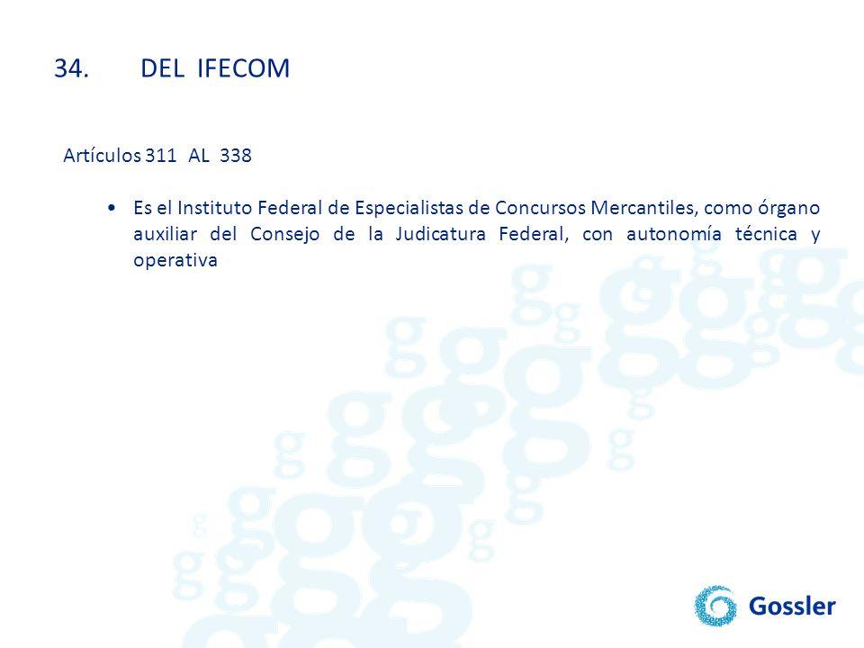 34. DEL IFECOM Artículos 311 AL 338