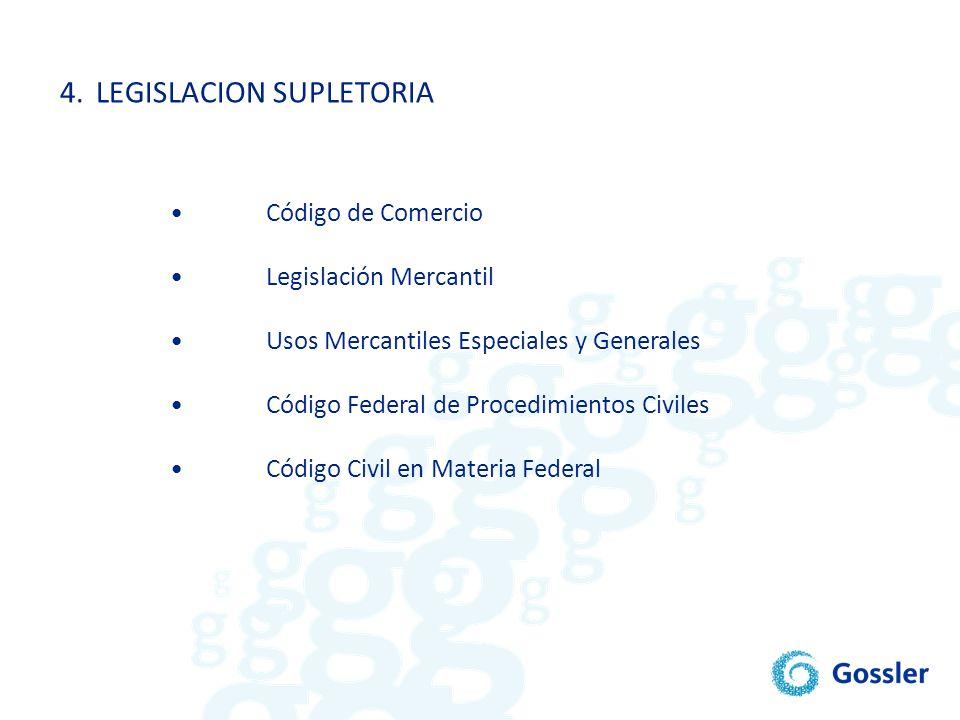 4. LEGISLACION SUPLETORIA