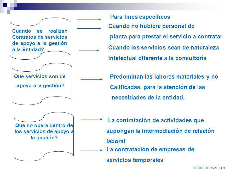 GABRIEL DEL CASTILLO Para fines específicos