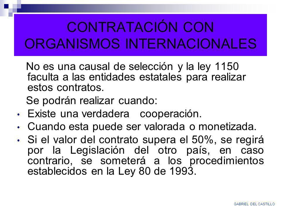 CONTRATACIÓN CON ORGANISMOS INTERNACIONALES