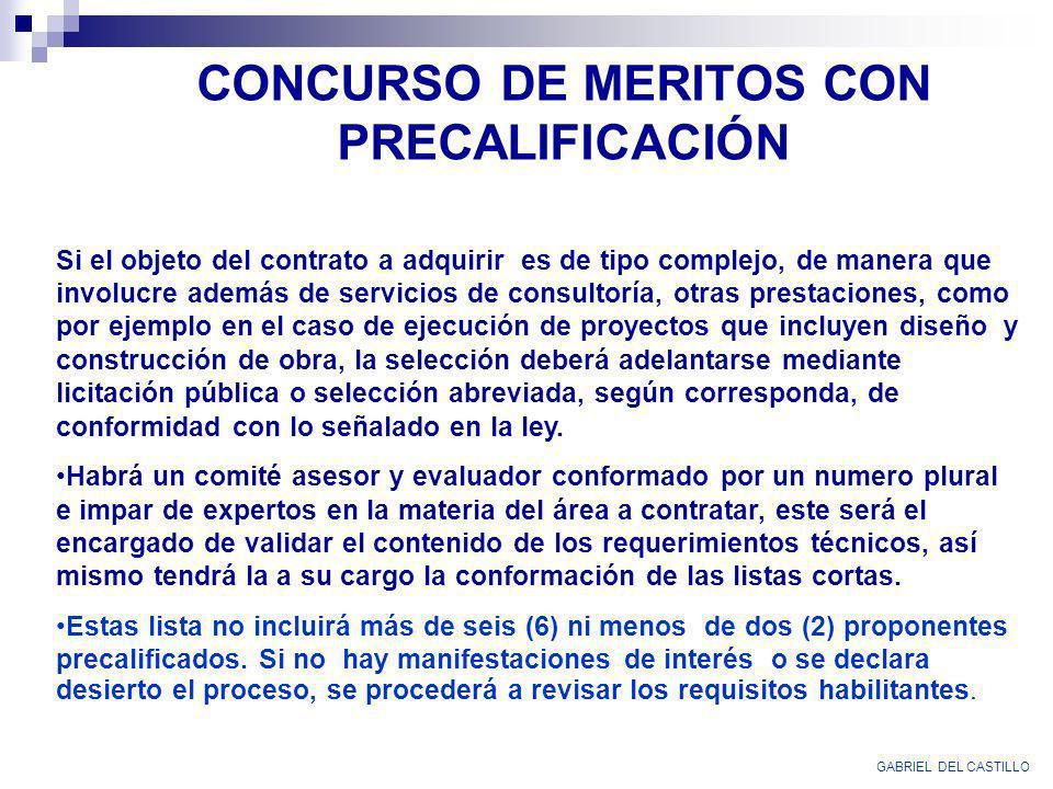 CONCURSO DE MERITOS CON PRECALIFICACIÓN