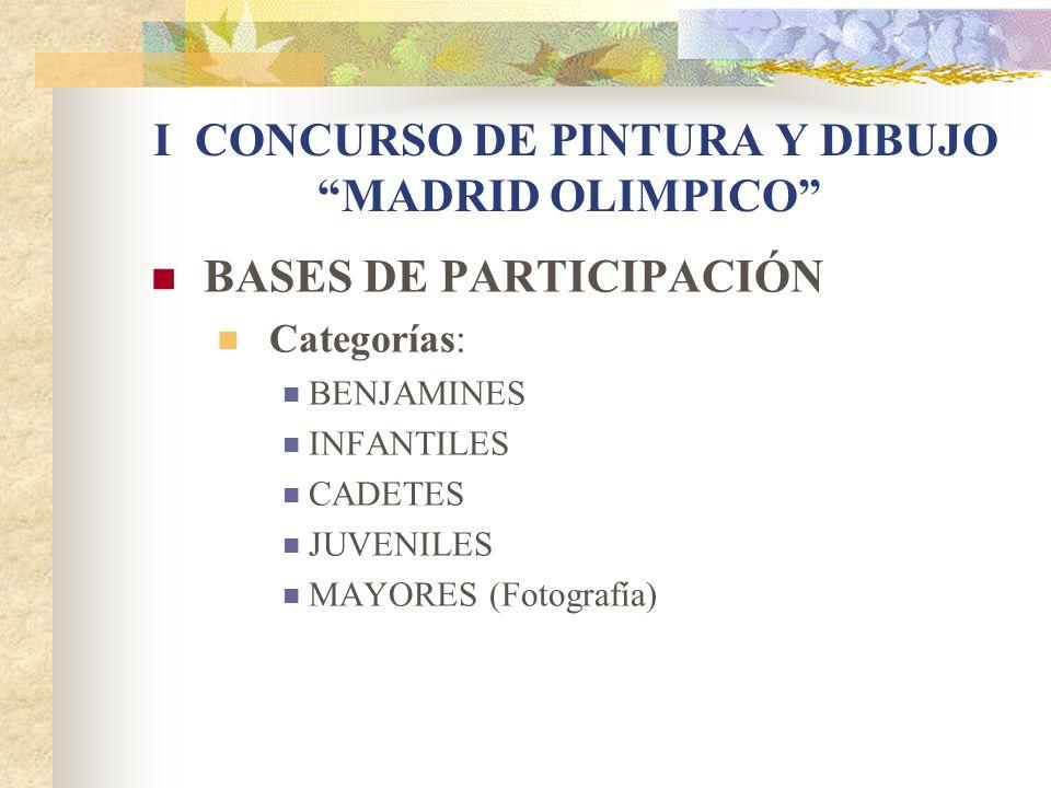 I CONCURSO DE PINTURA Y DIBUJO MADRID OLIMPICO