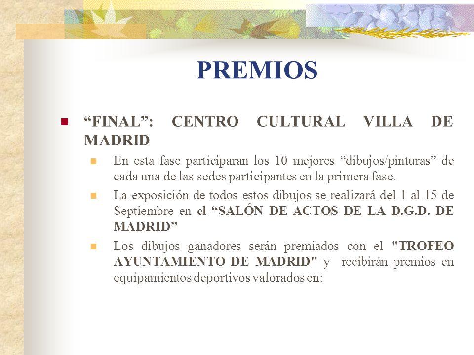 PREMIOS FINAL : CENTRO CULTURAL VILLA DE MADRID