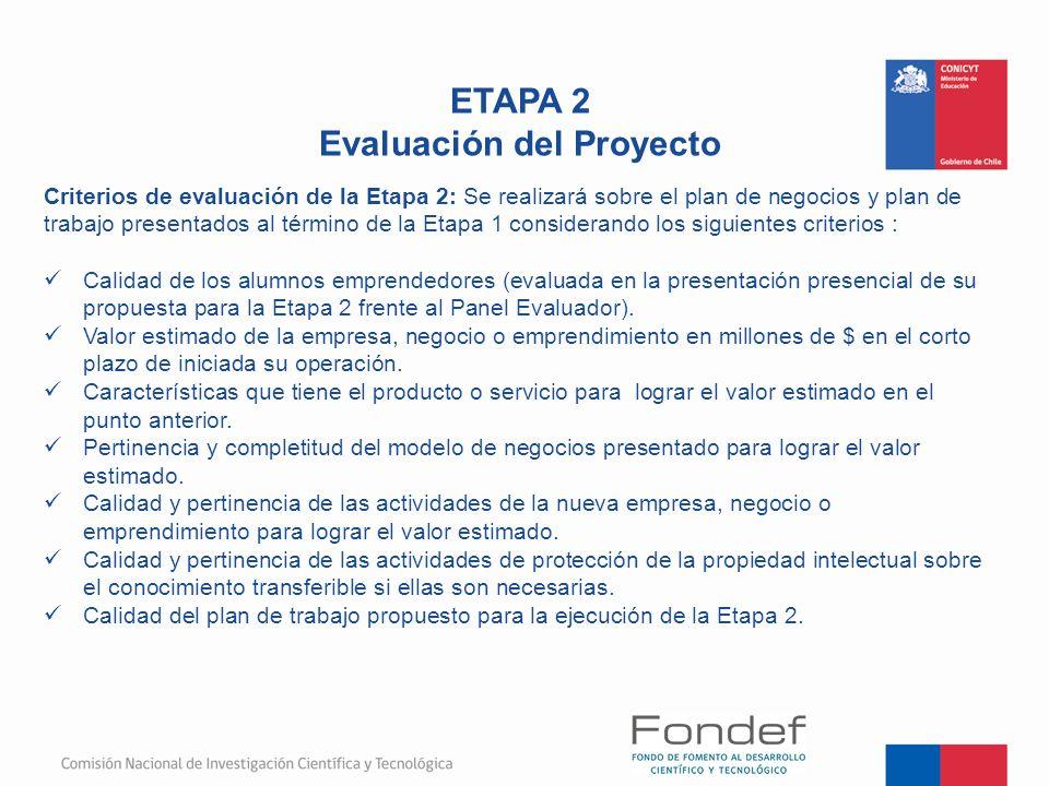 Evaluación del Proyecto
