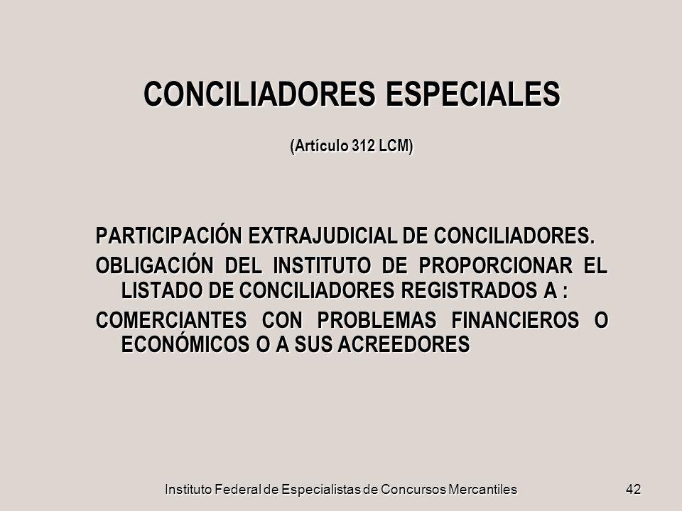 CONCILIADORES ESPECIALES