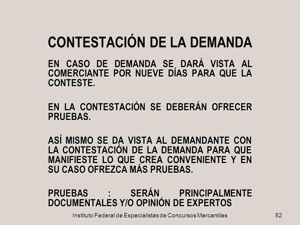 CONTESTACIÓN DE LA DEMANDA