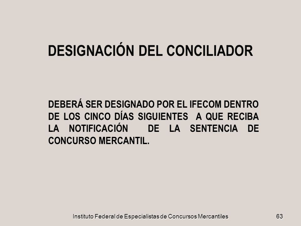 DESIGNACIÓN DEL CONCILIADOR
